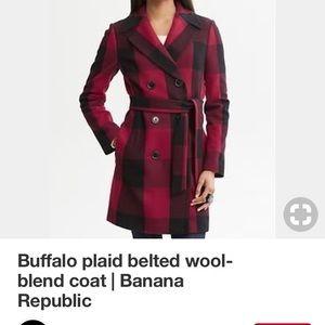 Pre-Owned Banana Republic  Buffalo Plaid Coat